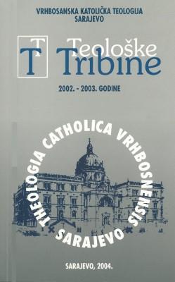Teološke tribine 2002. – 2003.