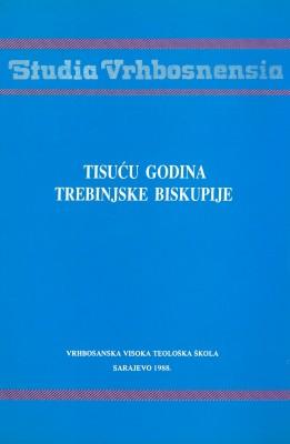 Tisuću godina Trebinjske biskupije
